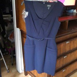Blue Tailored Dress
